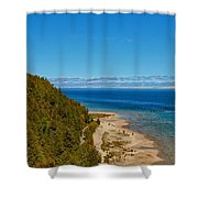 Due West Shower Curtain