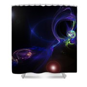 Dueling Galaxies Shower Curtain