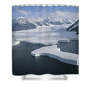 Dugdale And Murray Glaciers Antarctica Shower Curtain by Tui DeRoy