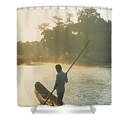 Dugout Boat Shower Curtain