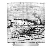 Dugout Home, 1871 Shower Curtain