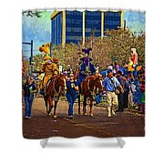 Dukes Of Rex - Impasto Shower Curtain