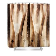 Dulcimer Abstract Shower Curtain