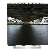 Duluth Lift Bridge Under 2 Shower Curtain