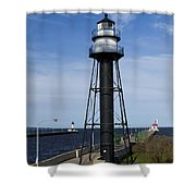 Duluth Lighthouses 1 Shower Curtain