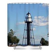 Duluth Mn Bridge Lighthouse Shower Curtain