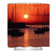 Dun Laoghaire Harbour, Co Dublin Shower Curtain