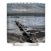 Dune Beach Winter Shower Curtain