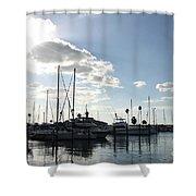 Dunedin Marina  Shower Curtain