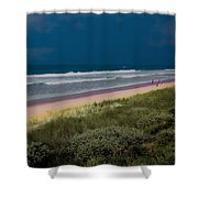 Dunes And Ocean Divided Shower Curtain