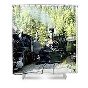 Durango Silverton Steam Locomotive Shower Curtain