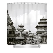 Durbar Square Patan Shower Curtain