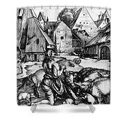 Durer: Prodigal Son, 1496 Shower Curtain