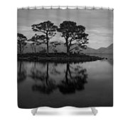 Dusk At Loch Maree Shower Curtain
