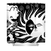 Dusk Dancer - Inverted Shower Curtain