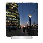 Dusk In London Shower Curtain