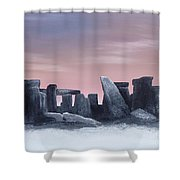 Dusk On The Winter Solstice At Stonehenge 1877 Shower Curtain