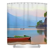 Dusk Tranquility Shower Curtain