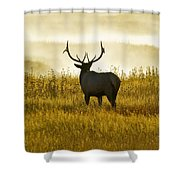 Dusky Elk Shower Curtain