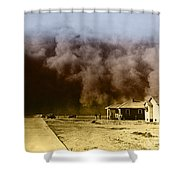 Dust Storm, 1930s Shower Curtain by Omikron