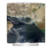 Dust Storms Across Iran, Afghanistan Shower Curtain