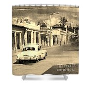 Dusty Old Town Shower Curtain