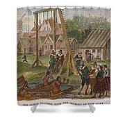 Dutch & Native American Trade Shower Curtain