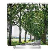 Dutch Road - Digital Painting Shower Curtain