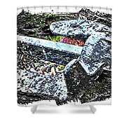 Duty Is Done - Warship Anchor Shower Curtain