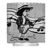 Dylan In Black And White Shower Curtain