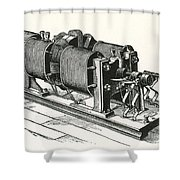 Dynamo Electric Machine Shower Curtain