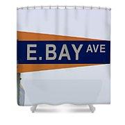 E. Bay Ave Shower Curtain