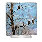 Eagle Family Shower Curtain