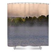 Eagle Lake Panorama Shower Curtain