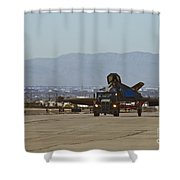 Eagle Landing In Vegas Shower Curtain