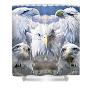Eagle Moods Shower Curtain