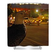 Eagle Watching Grants Pass Night Shower Curtain