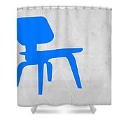 Eames Blue Chair Shower Curtain by Naxart Studio
