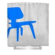 Eames Blue Chair Shower Curtain