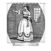 Early American Actress Shower Curtain