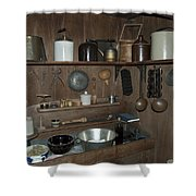 Early American Utensils Shower Curtain