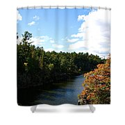 Early Autumn Colors Shower Curtain