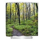 Early Autumn Hike Shower Curtain