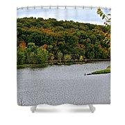 Early Autumn Shoreline Shower Curtain