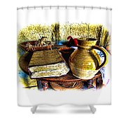 Early Colonial Still Life Shower Curtain