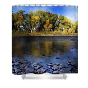 Early Fall At The Headwaters Of The Rio Grande Shower Curtain by Ellen Heaverlo