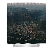 Early Morning Aerial View Of Cape Town Shower Curtain