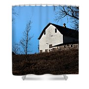 Early Morning Barn Shower Curtain