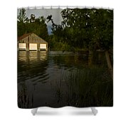 Early Morning Clam Lake Channel Shower Curtain
