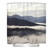 Early Morning Fog Shower Curtain